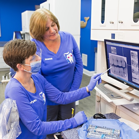 Dr. Wyke and her Bethlehem team using modern digital x-rays